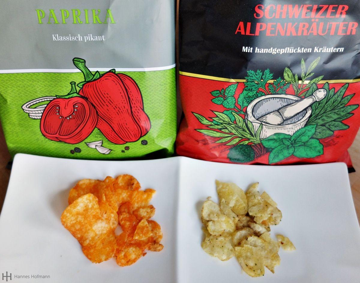 Kartoffel-Chips ? Lisa's Bio-Kesselchips & San Carlo più gusto ! Ein kleines Resumé - u.a. Schweizer Alpenkräuter & Paprika